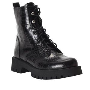 NINE WEST combat  boots size 7M NWT